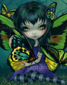 Pipistrello Bat Fairy - Jasmine Becket-Griffith bats art big eyes girl gothic fairy bat wings pipistrello pipistrelle by Strangeling fantasy art Amy Brown, Betty Boop, Fairy Pictures, Magical Pictures, Pretty Pictures, Gothic Fairy, Butterfly Fairy, Wow Art, Little Doll