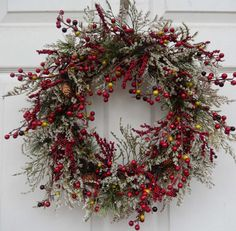 Winter Wreath Christmas Wreath Holiday Christmas door forevermore1
