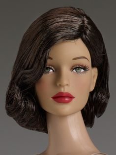 """#Pin2Win: $134.99. All Vintage Peggy. Face includes hand-painted details Fine quality vinyl and hard plastic Peggy Harcourt™ head sculpt 16"""" curvaceous body Green painted eyes with applied eyelashes Mink removable saran wig Tyler skin tone Teal teddy with ruffle trim and garters Nude pantyhose Teal molded plastic shoes Stand"""