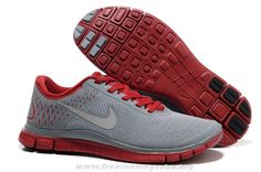 Authentic Nike Free 4.0 V2 Mens 511472-600 Gym Red Reflect Silve