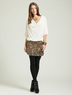 sequin mini skirt and tights - Google Search