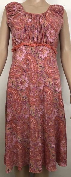 April Cornell Women's Dress Size S  Rayon Floral Rayon Sleeveless multi colored  #AprilCornell #Romantic #Casual #womensfashion #forsale #dress #shopping #deals #india #rayon #saving #buynow