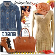 How To Wear Denim jaket and Fall Outfit Idea 2017 - Fashion Trends Ready To Wear For Plus Size, Curvy Women Over 20, 30, 40, 50