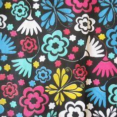 C0045 - floral, fundo preto