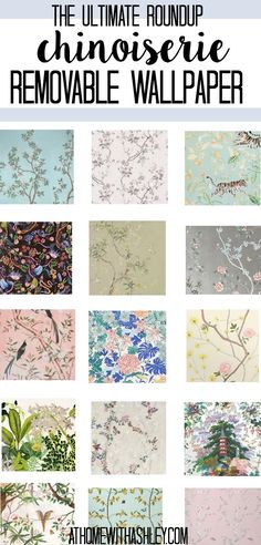 Chinoiserie Removable Wallpaper