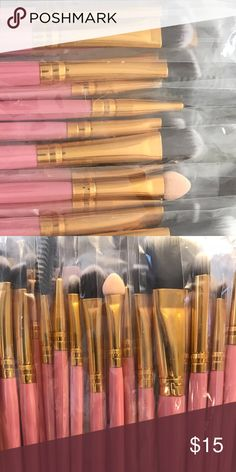 20 PIECE MAKE UP BRISH SET ~ ALL YOU NEED Excellent 20 piece make up brush set. This has all you'll need. Why pay $20 for one brush when you can get an entire set for such a great price? Other colors are available in my Closet. New and direct from the maker.  ❤️ Save 20% when you buy 2+ items in my Closet ❤️  👇🏻👇🏻👇🏻  If you LIKE my Closet, FOLLOW ME to see NEW ARRIVALS   Jewelry accessories popular beach pool summer birthday gift present women vacation cruise date night beach spring…