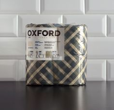 via lovely-package: Oxford Toilet Paper. The packaging sway more elegant than what is generally on the shelves.