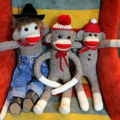 Country Sock Monkey and friends