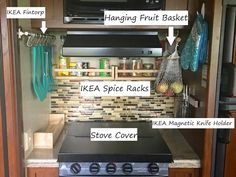 Organize RV Kitchen