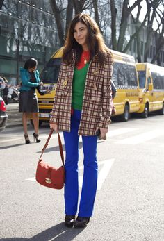 Color Blocked (And Plaided and Striped) Gloria Baume - streetpeeper