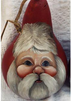 Santa Face on Gourd                                                                                                                                                                                 More