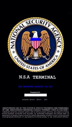 NSA. Military logo
