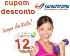 Cupom de desconto de 12% para comprar no site Corpo Perfeito. Aproveite porque é por tempo limitado!