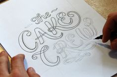 Hand Lettered Logos | The Cake Crew