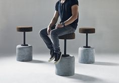 New bar stool brings together two unlikely materials – cork and concrete. By Cape Town based designer Laurie Wiid van Herden of Wiid Design