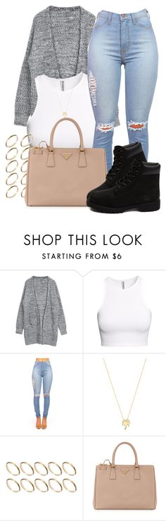 """Stone Cold // Demi Lovato"" by pinkliquor-xo ❤ liked on Polyvore featuring H&M, Joolz by Martha Calvo, ASOS, Prada, Timberland, women's clothing, women's fashion, women, female and woman"