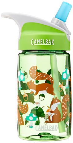 CamelBak eddy Kids Back to School Water Bottle, Squirrels, 0.4-Liter