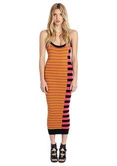 684c70f237 Diagonal Strip Midi Sweater Dress - multi Hot Dress
