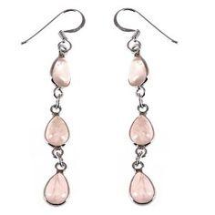 Dangle Earring Rose Quartz Gemstone Sterling Silver Ethnic Jewellery Indian: ShalinCraft: Amazon.co.uk: Jewellery