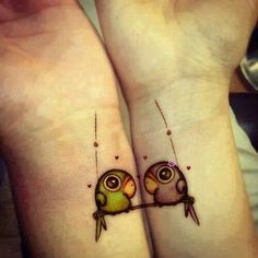Love these friendship tattoos