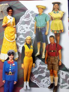 Castmember costumes.