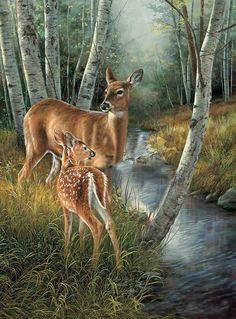 Animaux de la forêt en peintures