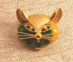 Signed DeNicola Jelly Belly Cat Pin offered by outreart on Etsy