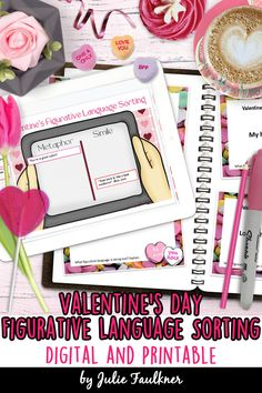 Valentine's Day Activity for Teens, Figurative Language, Digital Sorting, Google, Interactive, Game