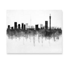 Johannesburg Skyline South Africa Cityscape Art Print Poster