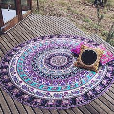 Durable Beach towel Beach Cover Up Round Beach Pool Home Shower Towel Blanket Table Cloth Mat from india