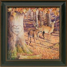 I have this in my living room!! personalized whitetail picture..