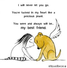 You Will Always Be My Best Friend - An illustrated pet bereavement, sympathy and condolence video card by Red & Howling.