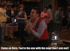 """""""Come on dora!"""" from Drake and Josh loved Crazy Steve! I miss that show. Tv Show Quotes, Movie Quotes, Funny Quotes, Funny Memes, Funny Humour, Funniest Memes, Memes Humor, Cat Memes, Quotes Quotes"""