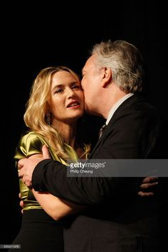 Actress Kate Winslet Alan Rickman attend the 'A Little Chaos' premiere during the 2014 Toronto International Film Festival at Roy Thomson Hall on September 13, 2014
