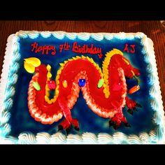 Dragon cake - Safeway. Can be used for Ninjago Birthday