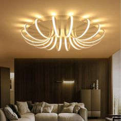 BMART White High Power LED Ceiling chandelier For Living Room Bedroom Home Modern Led Chandelier Lamp. Click visit to buy Dining Room Lamps, Chandelier In Living Room, Ceiling Chandelier, Living Room Lighting, Acrylic Chandelier, Ceiling Lighting, False Ceiling Living Room, Ceiling Design Living Room, False Ceiling Design