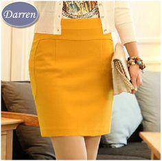 2014 nueva primavera verano otoño de la cadera delgada mini falda corta moda encima de la rodilla carrera de cintura alta más el tamaño de lápiz faldas mujeres de(China (Mainland))