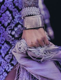 the mixture of textures and shades of purple and lavender are gorgeous