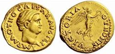 Gold coin of Emperor Otho. He reigned in 69 AD (3 months).