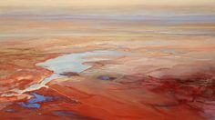 Philip Govedare's extraordinary oil paintings. A perfect balance between abstract and realistic. And those colors!