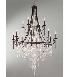 Feiss Cascade 12 Light Chandelier in Heritage Bronze 2 story Foyer Entry Chandelier, Entryway Lighting, Bronze Chandelier, Chandelier Ceiling Lights, Rustic Lighting, Glass Chandelier, Room Lights, Chandelier Ideas, Kitchen Lighting