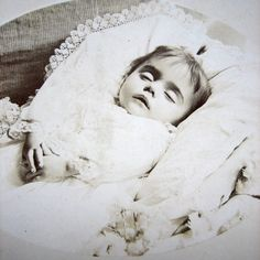 Antique Post Mortem Photo French girl with by DogDayAfternoons