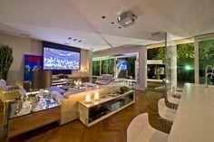 Cozinha e salas estar/jantar integradas com decora��o neutra e moderna   we love decor!
