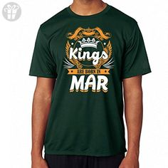 Belinto - Unisex Kings Are Born In March - Made In March Perfect Funny Birthday Cool Vintage Gifts Ideas Unisex T-Shirts (Dark Green Size M) - Birthday shirts (*Amazon Partner-Link)