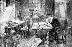 Charles Rochussen, Rembrandt leest in de bijbel, Carel Vosmaer 1872-74