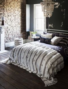 Pinterest-worthy bedrooms: ideas and inspiration to create your dream sanctuary. For a warm and welcoming look, add a hint of Moroccan style and plenty of texture. Choose soft bedlinen and fluffy high-pile wool throws and cushions. (Photo credit: Marks & Spencer). For more decorating ideas visit housebeautiful.co.uk.