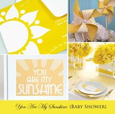 You are my sunshine baby shower decor