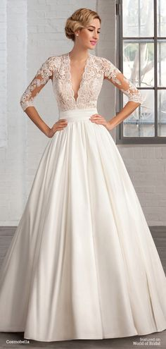 Robe de mariage : Win a Wedding Dress from the Cosmobella 2016 Collection 2016 Wedding Dresses, Wedding Dress Styles, Designer Wedding Dresses, Bridal Dresses, Bridesmaid Dresses, Prom Dresses, Dresses 2016, Dress Wedding, Tulle Wedding