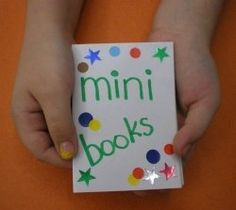 Tons of mini-book ideas in this gallery GO TO WEBSITE LINK FOR MORE IDEAS
