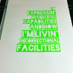 Hip Hop first verses - NWA Express Yourself, neon green